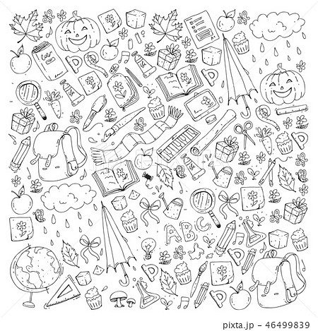Vector seamless pattern with school and education icons. 46499839
