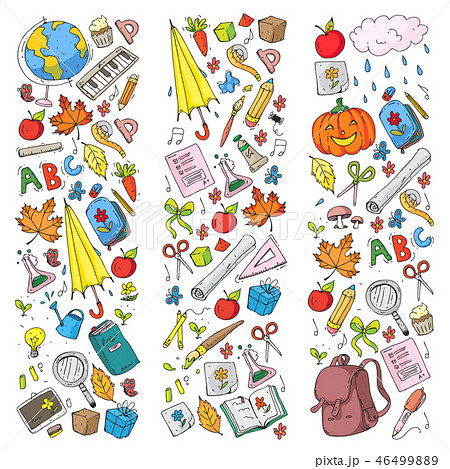 Vector seamless pattern with school and education icons. 46499889