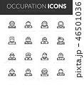 Outline black icons set in thin modern style 46501036