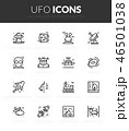Outline black icons set in thin modern style 46501038