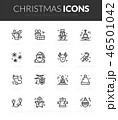 Outline black icons set in thin modern style 46501042