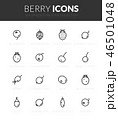 Outline black icons set in thin modern style 46501048