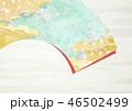 扇 桜 和柄のイラスト 46502499