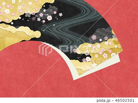 和紙の風合いを感じる日本画 46502501