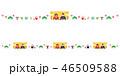 雛人形 桃の節句 フレームのイラスト 46509588