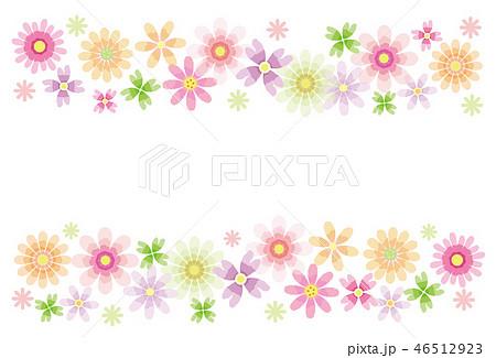 花のフレーム 背景素材 ポストカード 46512923