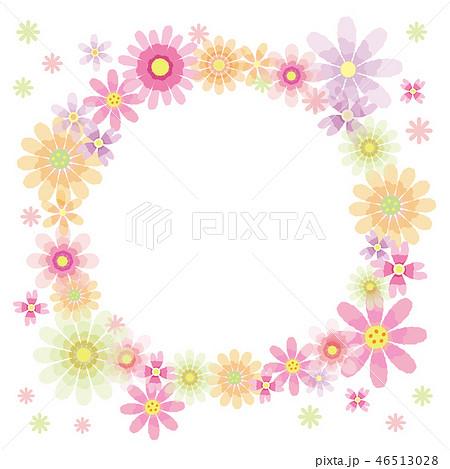 花のフレーム 丸 46513028