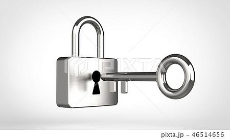 南京錠と鍵 シルバー 46514656