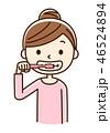歯磨き デンタルケア 歯ブラシのイラスト 46524894