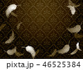 ダマスク柄 羽 クラシカルのイラスト 46525384