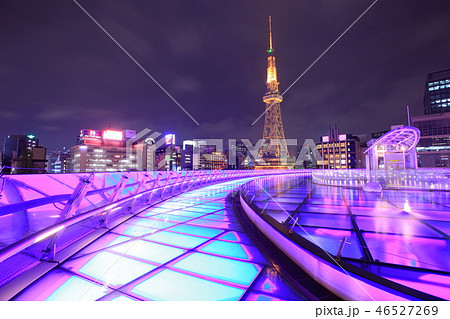 名古屋テレビ塔と水の宇宙船の夜景 46527269