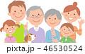 家族 三世代 ファミリーのイラスト 46530524