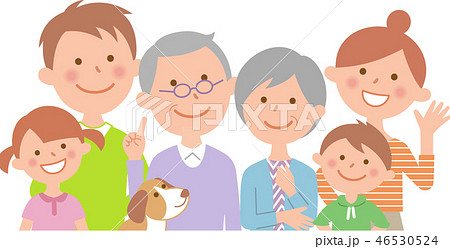 六人家族  正面  上半身 46530524