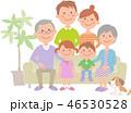 家族 三世代 ソファのイラスト 46530528