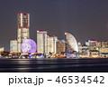 港 建物 夜の写真 46534542