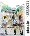 二月堂 女子高生 奈良観光 修学旅行 46535031