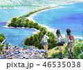 天橋立 女子高生 京都観光 修学旅行 46535038