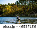 湖 本栖湖 山の写真 46537156