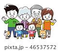 家族 仲良し ペットのイラスト 46537572