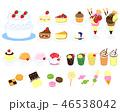 お菓子 菓子 デザートのイラスト 46538042