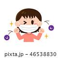 女の子 風邪予防 マスクのイラスト 46538830
