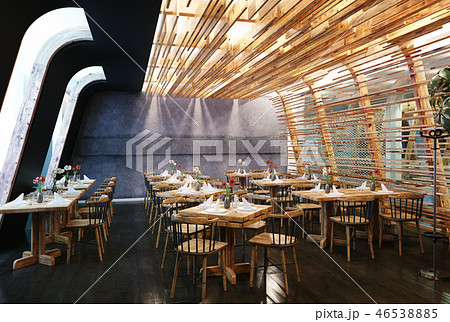 modern restaurant interior design. 46538885