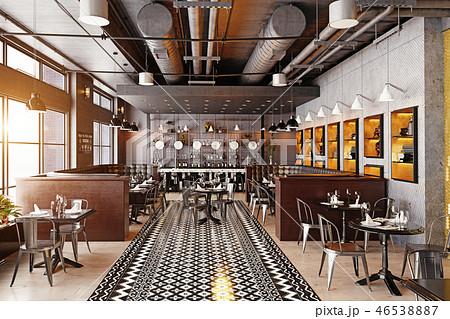 modern restaurant interior design. 46538887