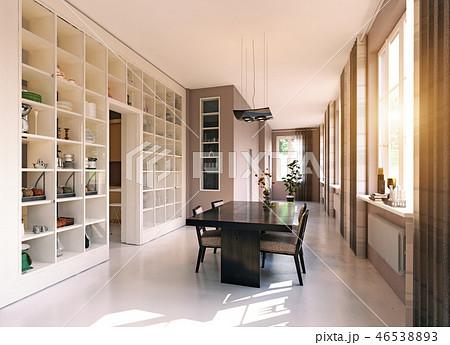 modern dining room 46538893
