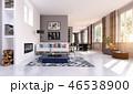空間 部屋 インテリアのイラスト 46538900
