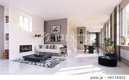 modern living interior. 46538902