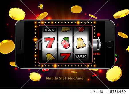 lucky slot machine casino mobile phone with light 46538929