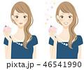 フレグランス 香水をつける女性 パーティードレス 46541990
