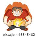 脂肪 肥満 燃焼のイラスト 46545482