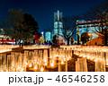 夜 クリスマス 都市の写真 46546258