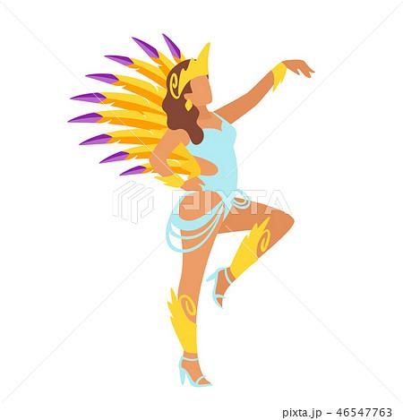 Carnival dancer silhouette. 46547763