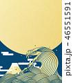 海 富士山 月のイラスト 46551591