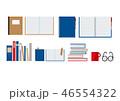 本とノート、メガネとマグカップ 46554322