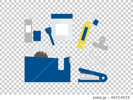 セロテープ、ノリなどくっつける文具ブルー 46554919