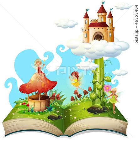 Open book fairy tale theme 46555404