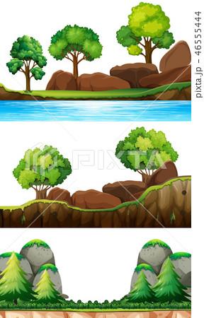 Set of nature landscape 46555444
