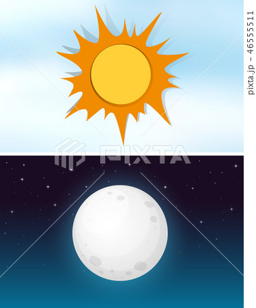 Day and night sky 46555511