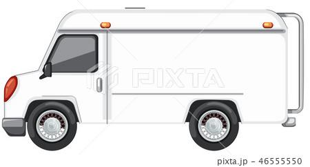 A white van on white background 46555550
