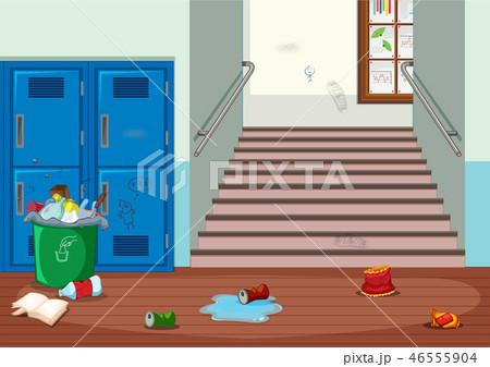 A dirty hallway background 46555904