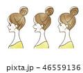 女性-表情(横顔) 46559136