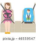 チャイルドシート シートベルト 運転のイラスト 46559547