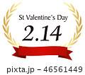 バレンタイン バレンタインデー アイコンのイラスト 46561449