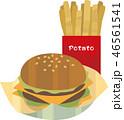 ダブルチーズバーガーとポテト 46561541