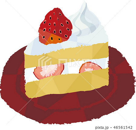 苺のショートケーキ 46561542