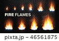 Fire Flames Set Vector. Different Animation Stages. Burning Light With Sparks Effect. Fiery Heat And 46561875