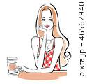 カフェで一息 ギンガムチェック 46562940
